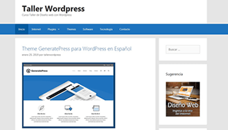 Resultado Tutorial WordPress Intermedio